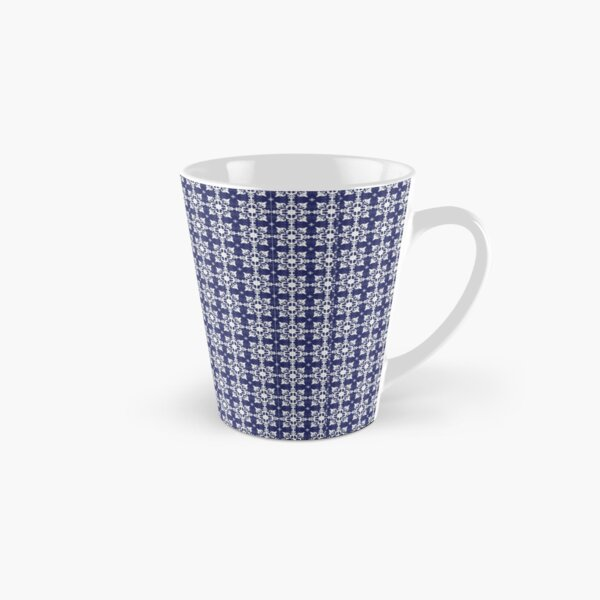French Country Blue & White Pattern Tall Mug