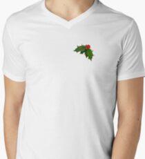 Small Holly Men's V-Neck T-Shirt
