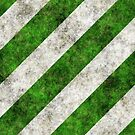 Green & Grey Marble Stripes by livejoytoday