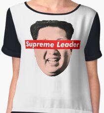 Supreme Leader Un - Kim Jong Un Parody T-Shirt Chiffon Top