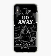 Ouija Board Seance Message - GO AWAY iPhone Case