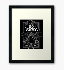 Ouija Board Seance Message - GO AWAY Framed Print
