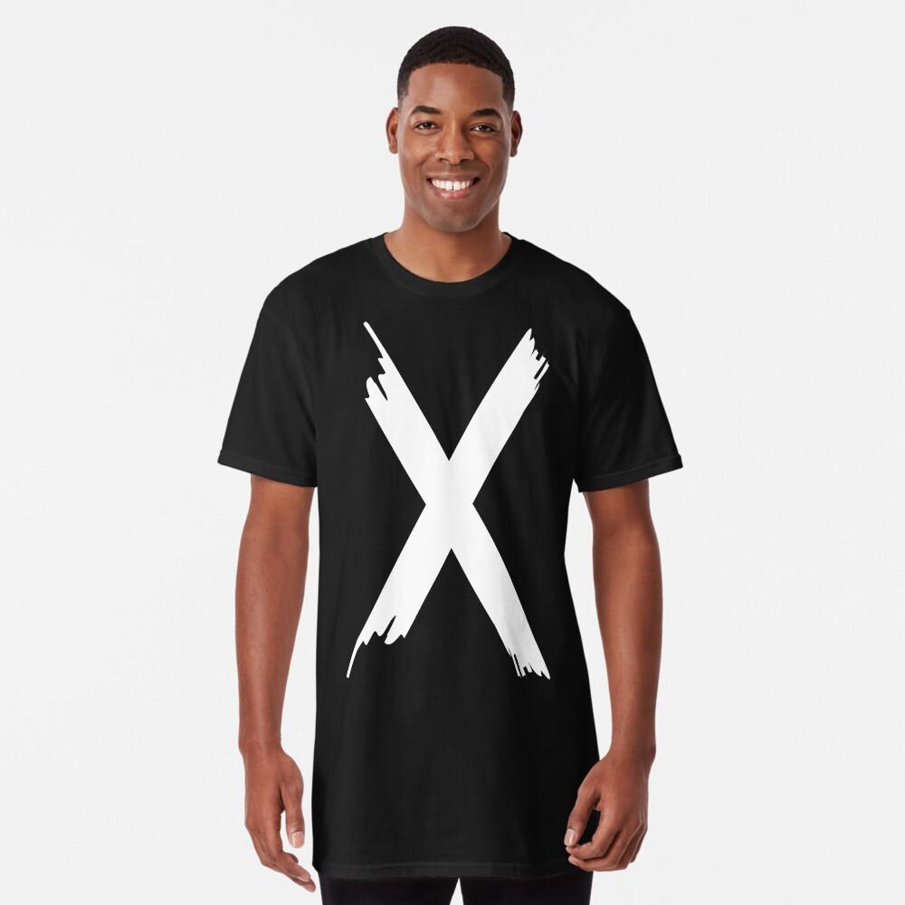 T-shirt long «X Paint letter»