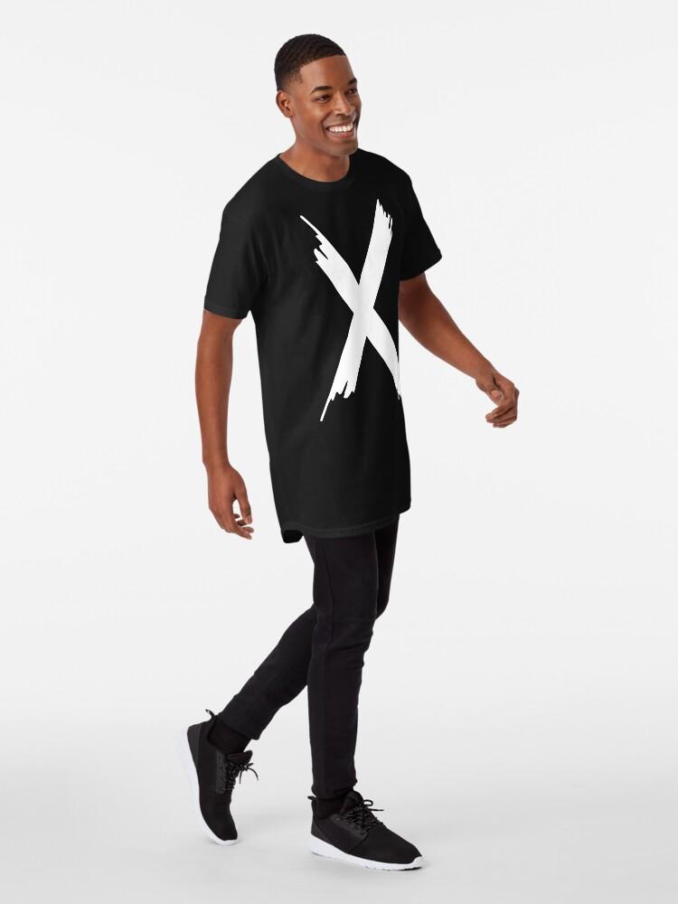 T-shirt long ''X Paint letter': autre vue