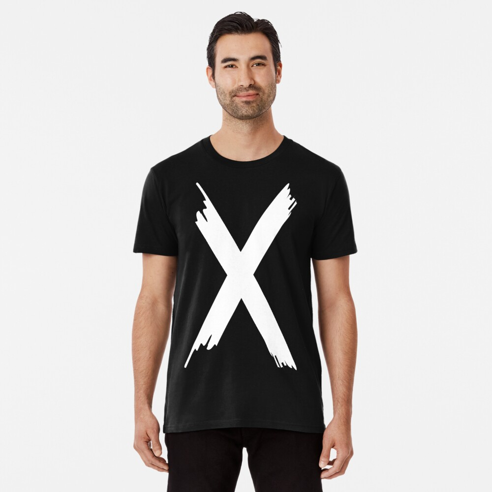 T-shirt premium «X Paint letter»
