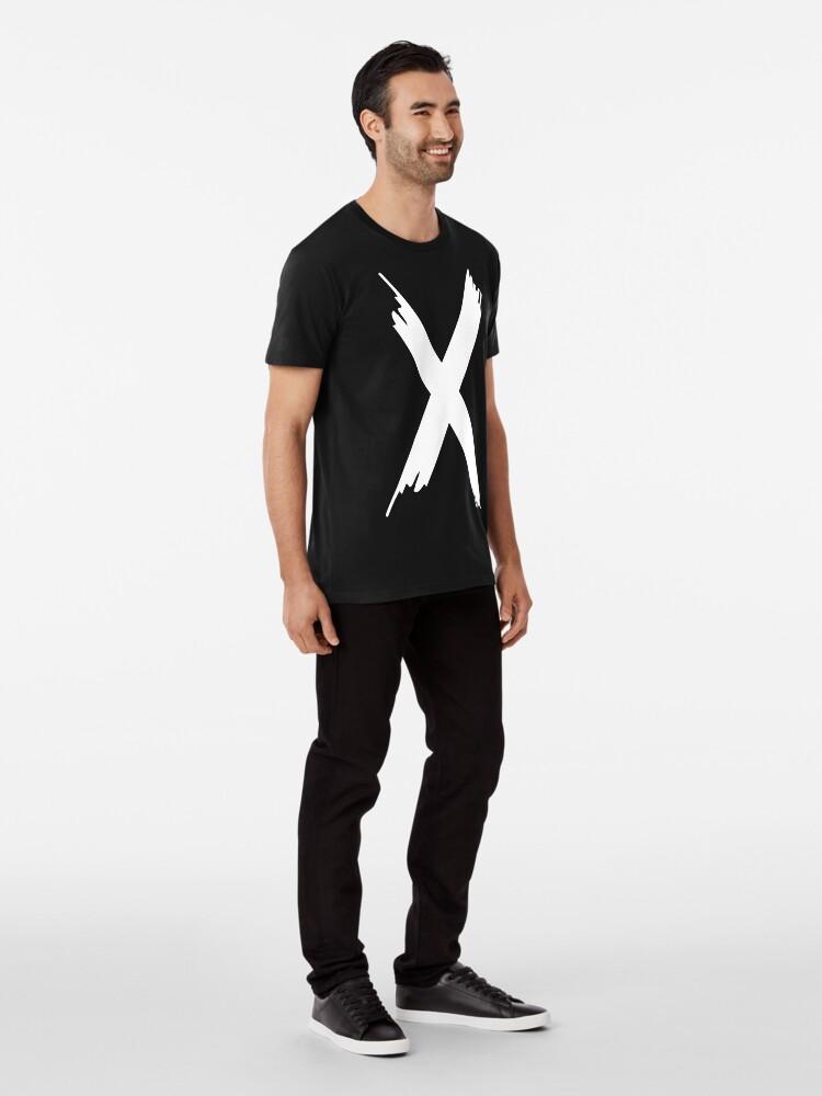 T-shirt premium ''X Paint letter': autre vue