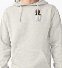 Peeping Sackboy Pocket (White) Pullover Hoodie