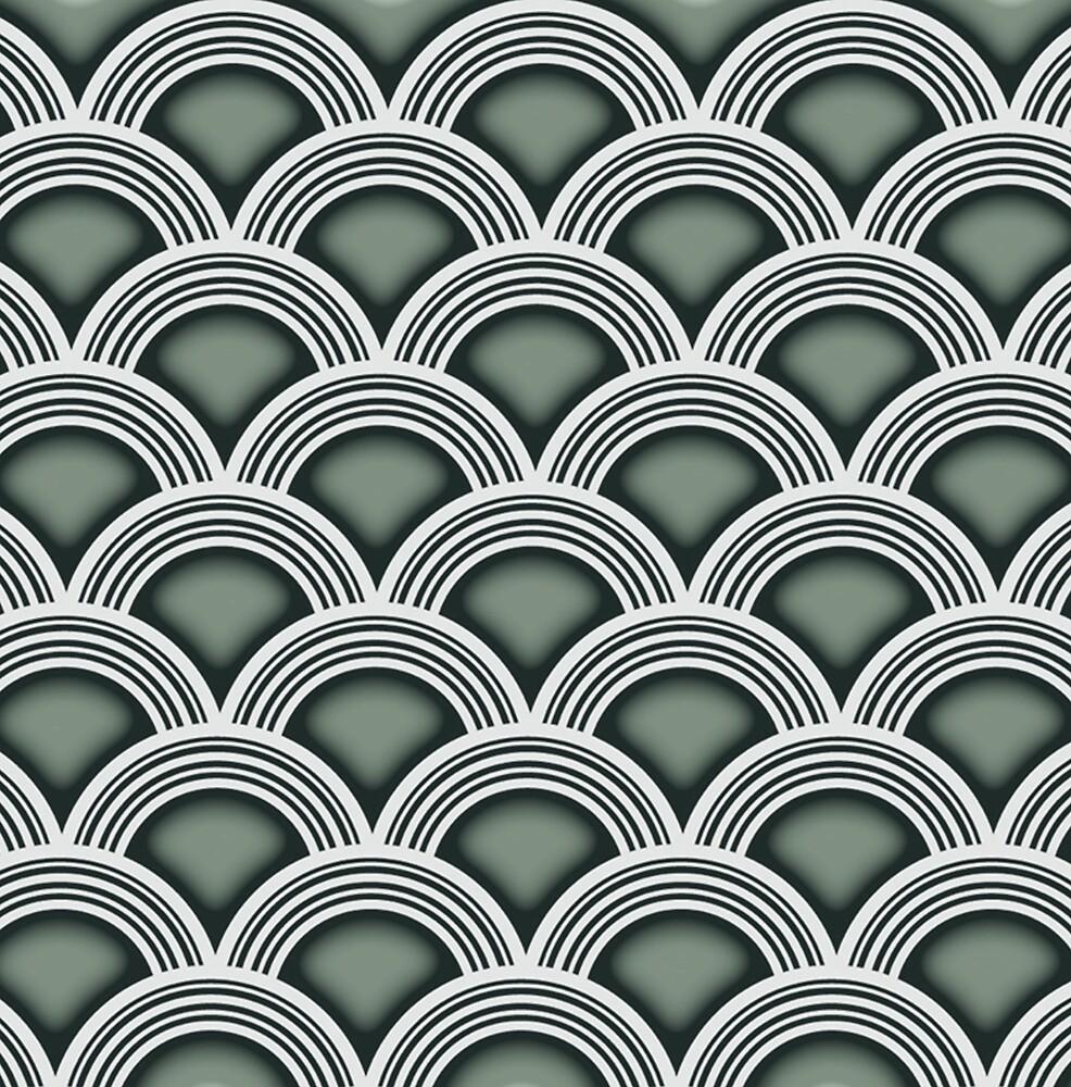 Art Deco Circles by Happy Dog Swag