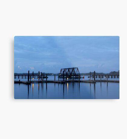 Morning Harbor Metal Print