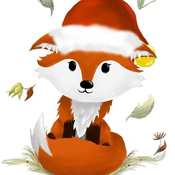 Cute Christmas Fox by LindasDesign