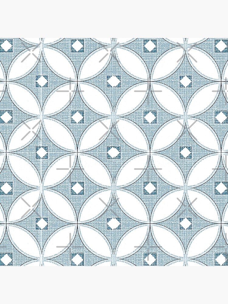 Modern Chinoiserie pattern, white and grey circle textures,classic blue, 2020 by MagentaRose