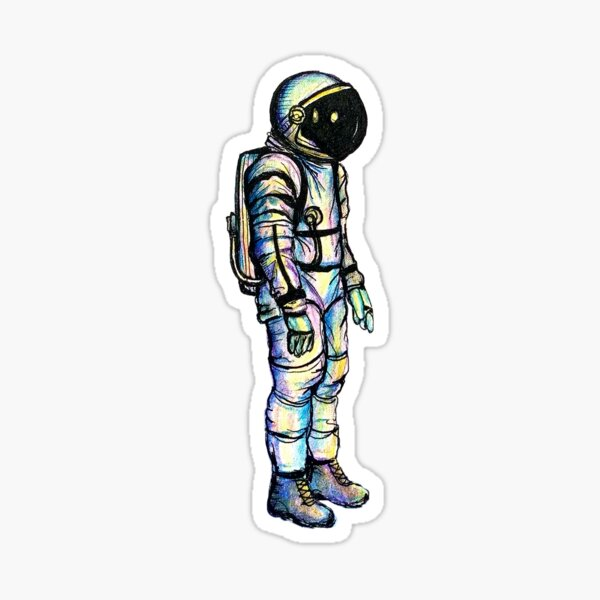 Psychedelic Astronaut Sticker