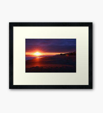 Emerald Isle Sunset Silhouette Framed Print