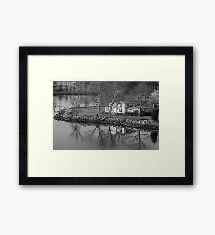 House On The Point Framed Print