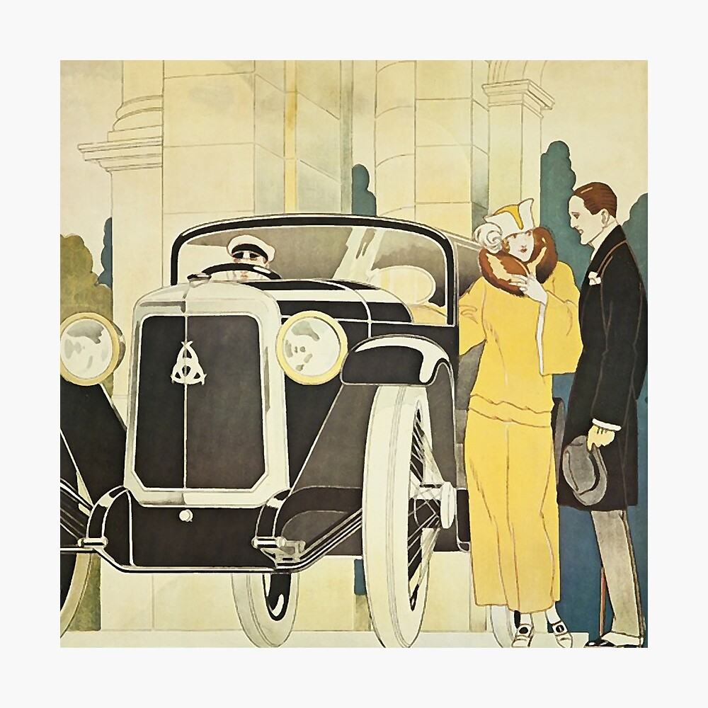 Art Deco Rendevous Photographic Print