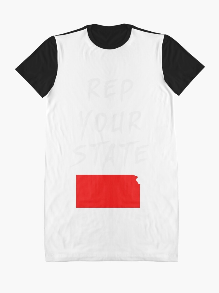 Alternate view of REP YOUR STATE KANSAS Graphic T-Shirt Dress