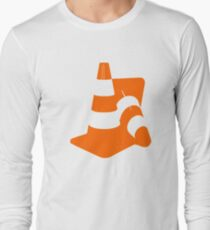 Traffic cones two safety pylons markers T-Shirt