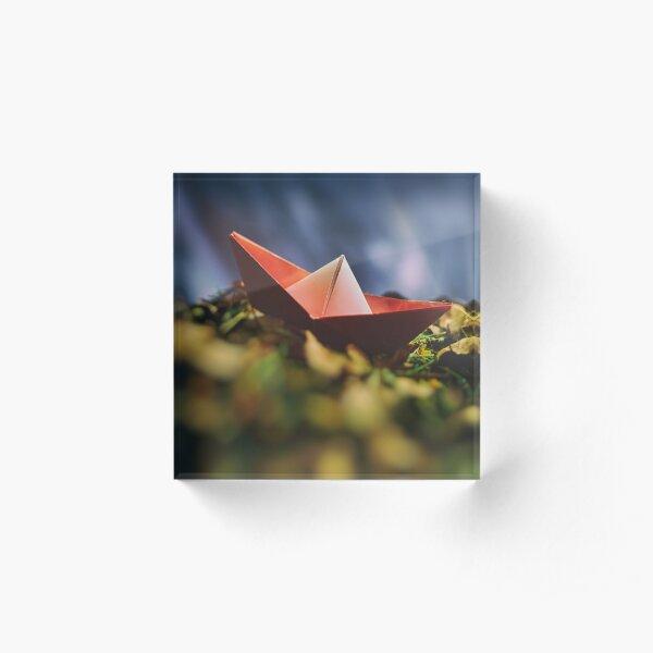 Paper boat Acrylic Block