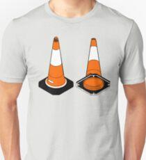 orange and black Traffic cones safety pylons T-Shirt