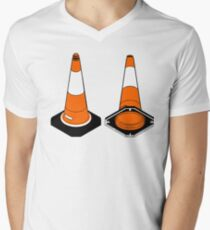 orange and black Traffic cones safety pylons T-Shirt