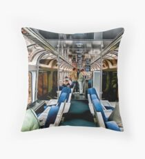 Taking The Train Throw Pillow