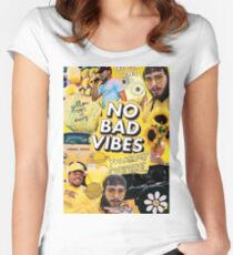 bad vibes post -  Women's Fitted Scoop T-Shirt
