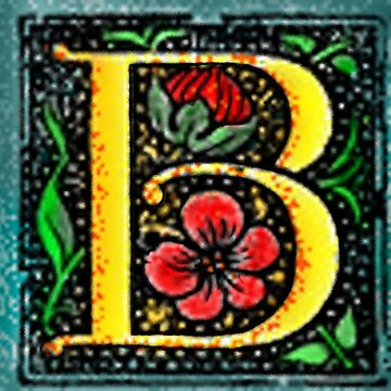 B Vintage Block letter by izzybeth