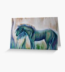 Little Blue Pony  Greeting Card