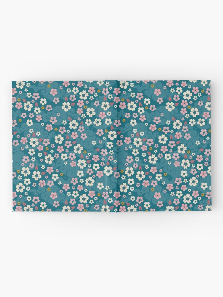 Alternate view of Pink + White Blossoms on Blue Hardcover Journal