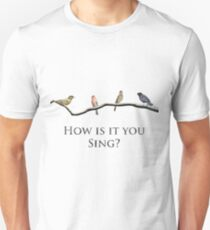 Green Finch and Linnet Bird | Sweeney Todd Slim Fit T-Shirt