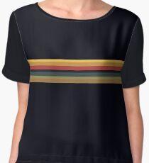 Jodie Whittaker 13th Doctor Rainbow stripe  (V1) Chiffon Top