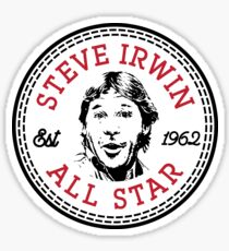 Steve Irwin All Star Parody Sticker