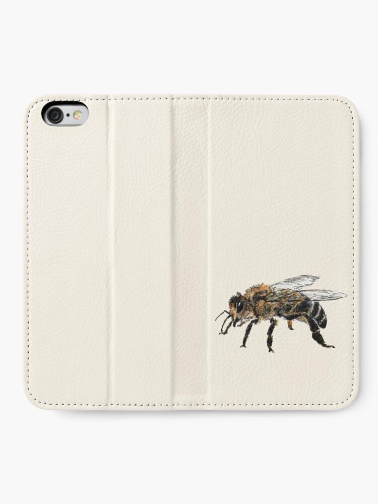 Alternate view of Honey Bee iPhone Wallet