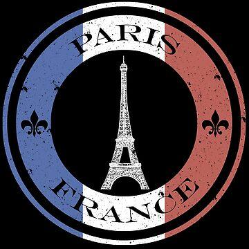 Eiffel Tower French Flag Paris, France Gifts + Tshirts - Souvenir by sparkpress