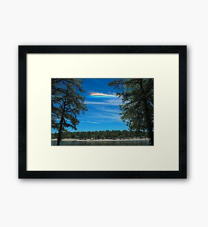 CHA over Harry Wright Lake Framed Print