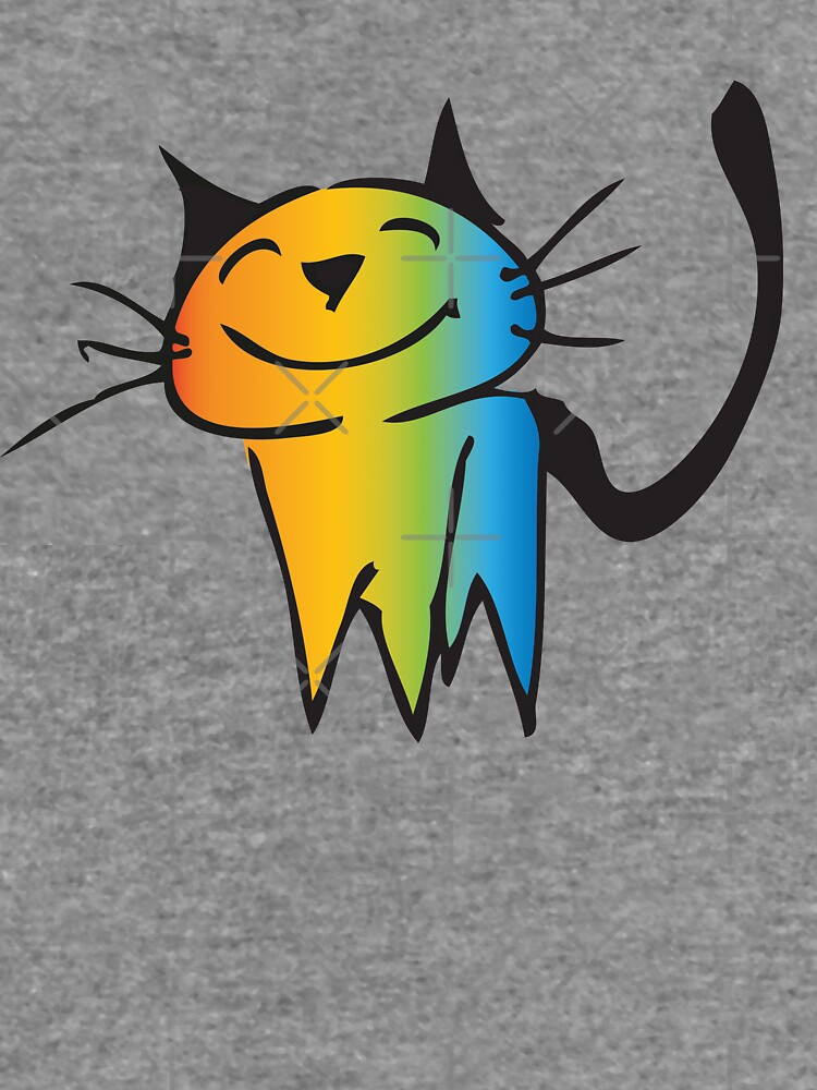 Rainbow color cat by liga-art