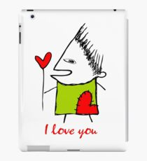 I love you - heart iPad Case/Skin