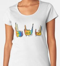 Rainbow Monsters Women's Premium T-Shirt