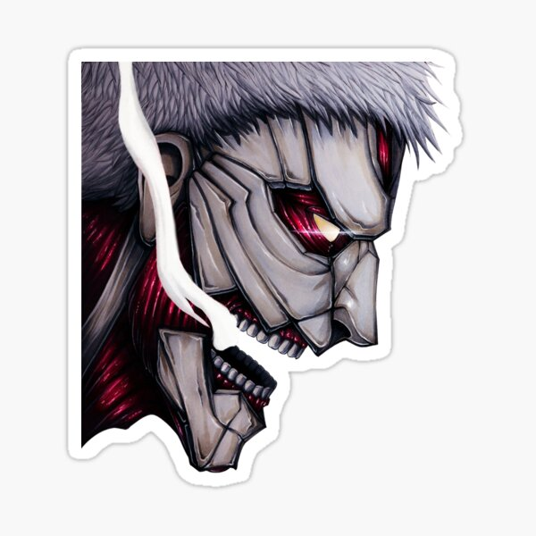 Armored Titan - Digital Illustration Sticker
