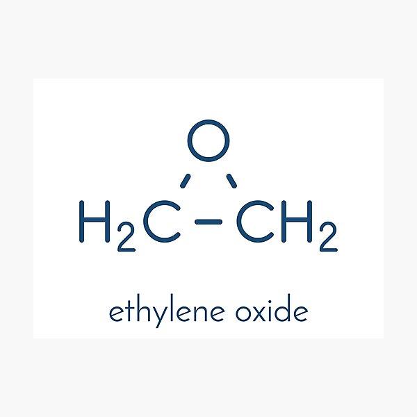 Ethylene oxide (oxirane) molecule Photographic Print
