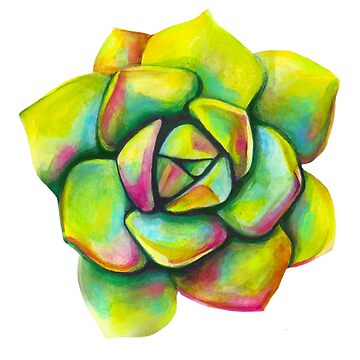 Green Rose Succulent by artbysavi