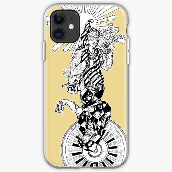 The Fool Twisted Tarot Yellow iPhone Soft Case