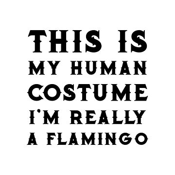 Flamingo Halloween Costume Funny Women Or Girls by miracletee