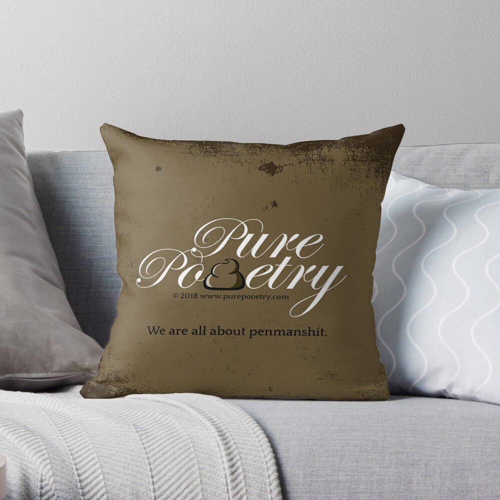 We Are All About Penmanshit Throw Pillow