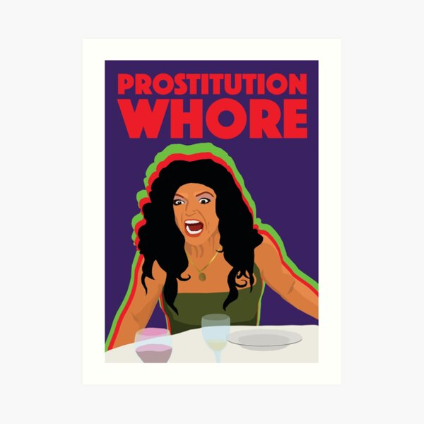 TERESA GIUDICE  |  Prostitution Whore  |  RHONJ (Real Housewives of New Jersey) Art Print