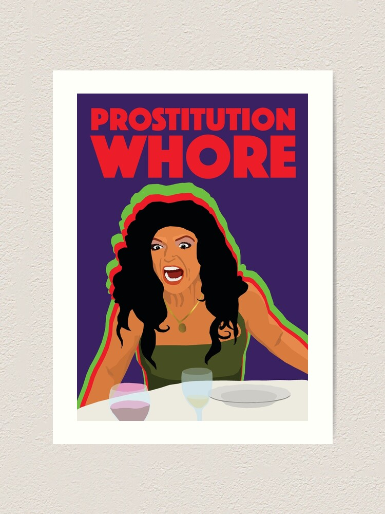 Alternate view of TERESA GIUDICE  |  Prostitution Whore  |  RHONJ (Real Housewives of New Jersey) Art Print