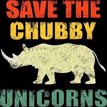 Save The Chubby Unicorns Vintage Retro by Zoyakarika546