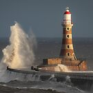 Breaking Waves at Roker Lighthouse by Great North Views