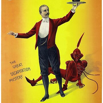 Servais Leroy Restored Vintage Magician Poster by vintagetreasure