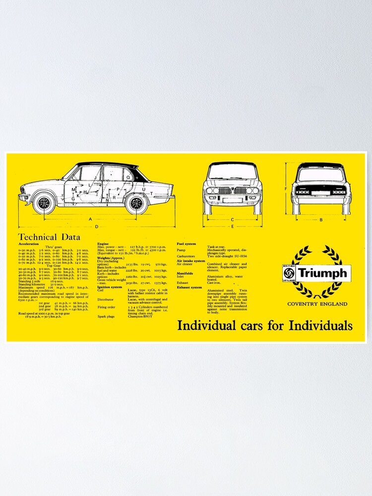 Retro Motor Company Greeting Card Triumph Acclaim